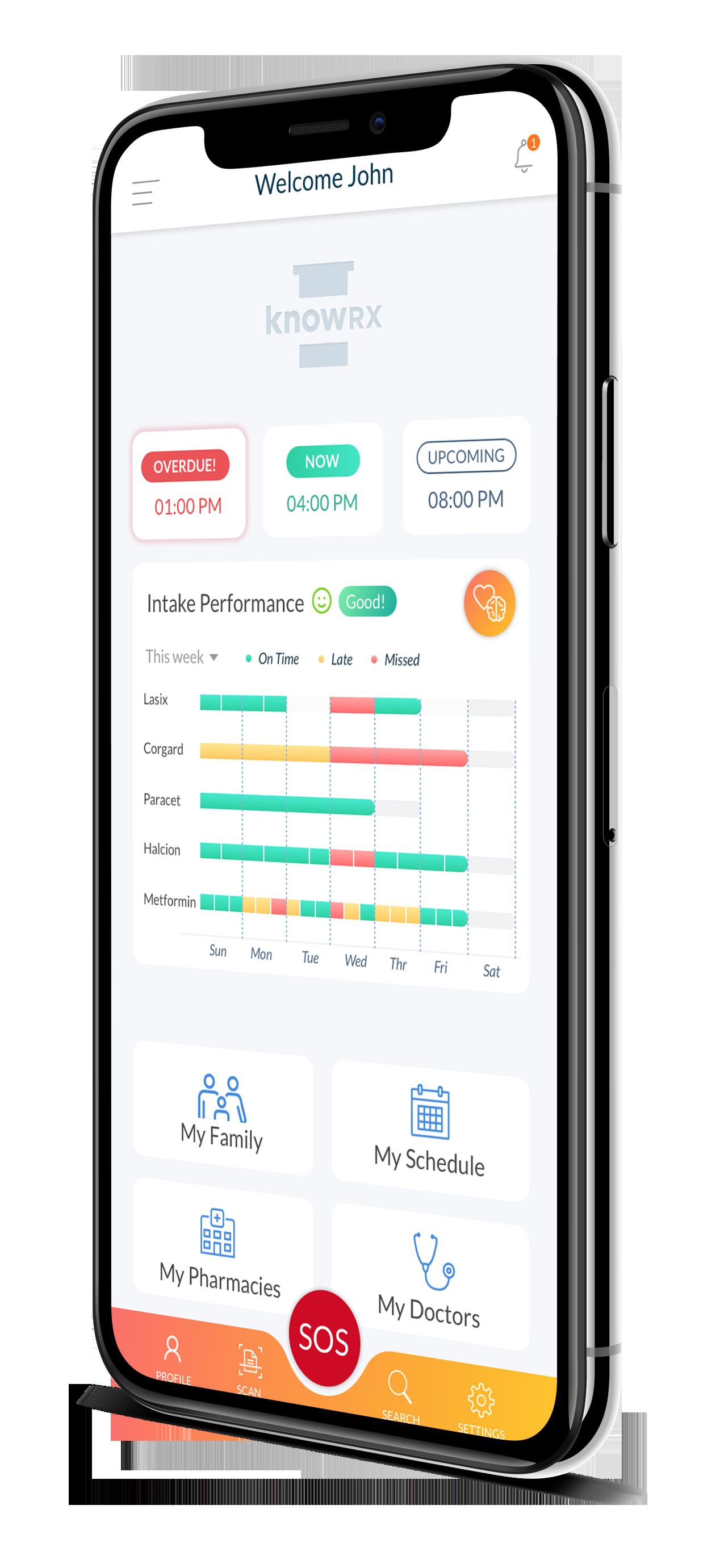 knowRX Drug management care app